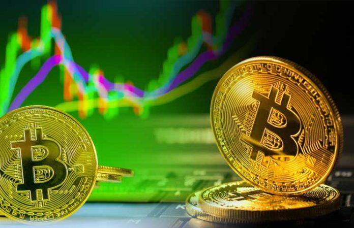 Bitcoin price tops