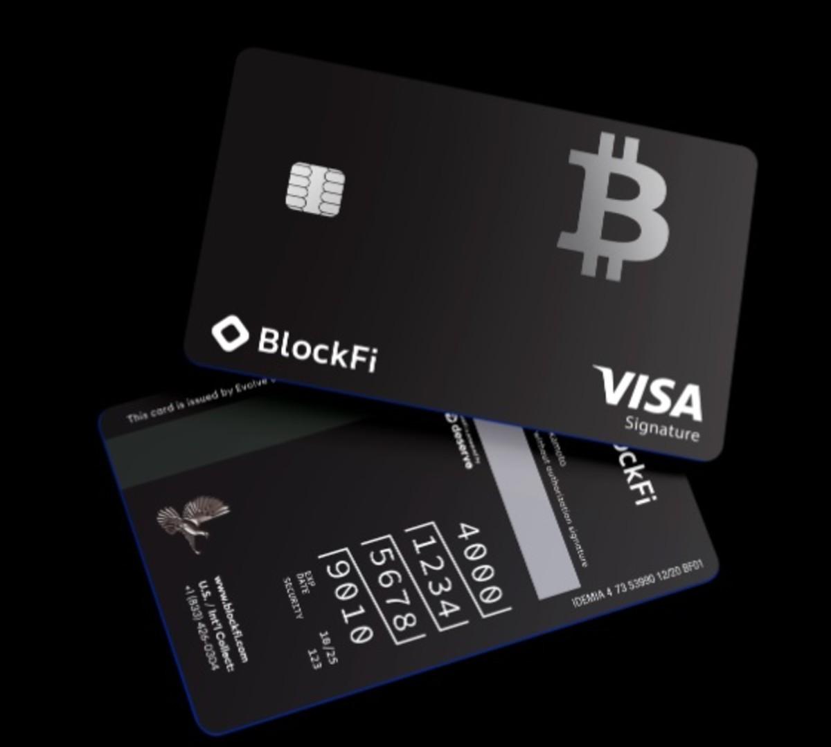 BlockFi launches Visa credit card with bitcoin cashback
