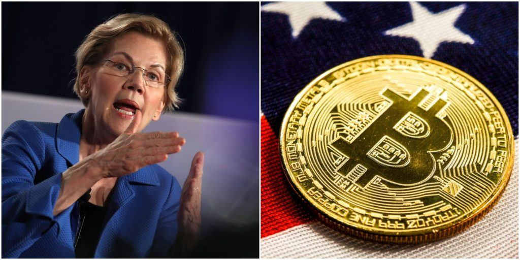Senator Elizabeth Warren calls for tighter regulation of cryptocurrencies in the US
