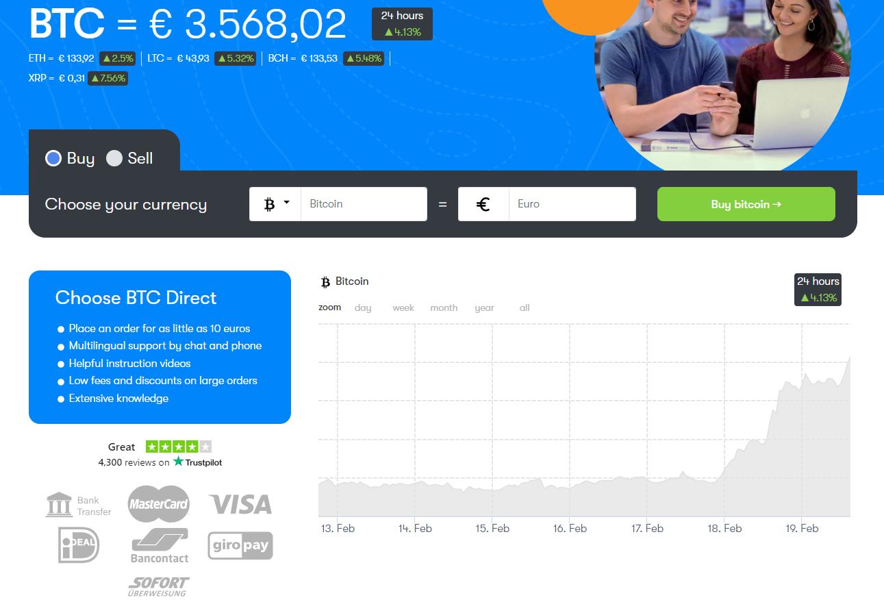 The BTC Direct website