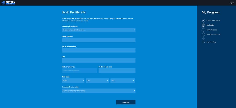 Bitrex personal data
