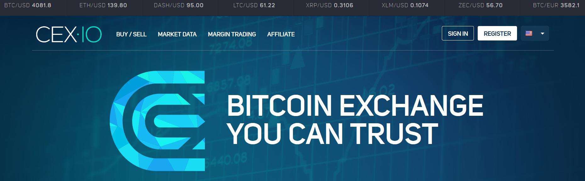 CEX.IO-Website
