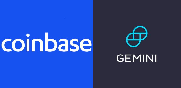 Coinbase and Gemini back