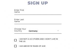 Registration in 3 steps