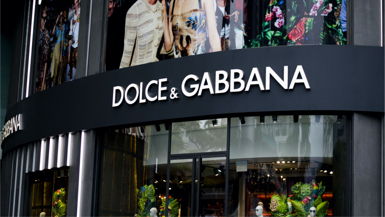 Dolce & Gabbana sells NFT collection for 1,885 ETHs